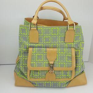 Liz Claiborne New York Large Spring Tote Purse Bag